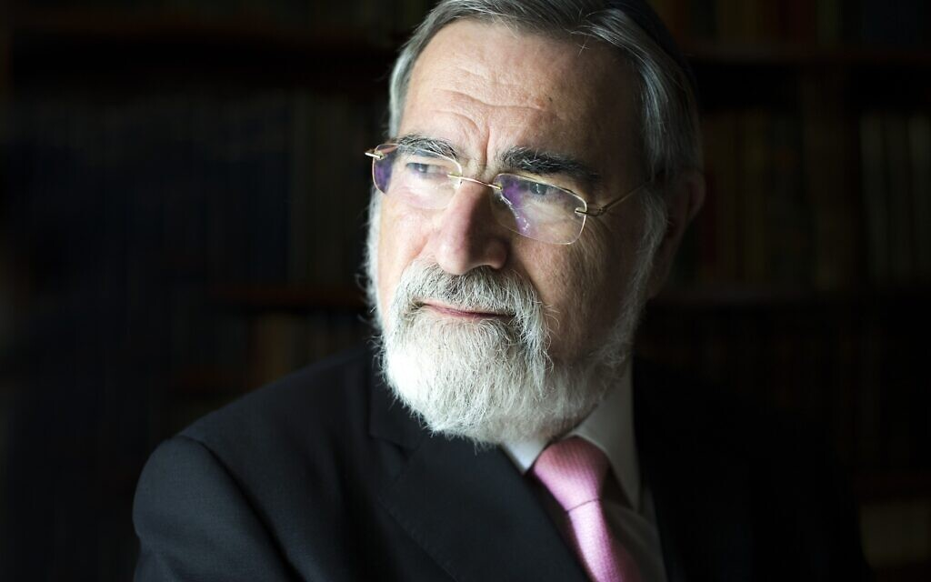 Rabbi Lord Sacks 'truly humbled' by honorary doctorate from Hebrew University