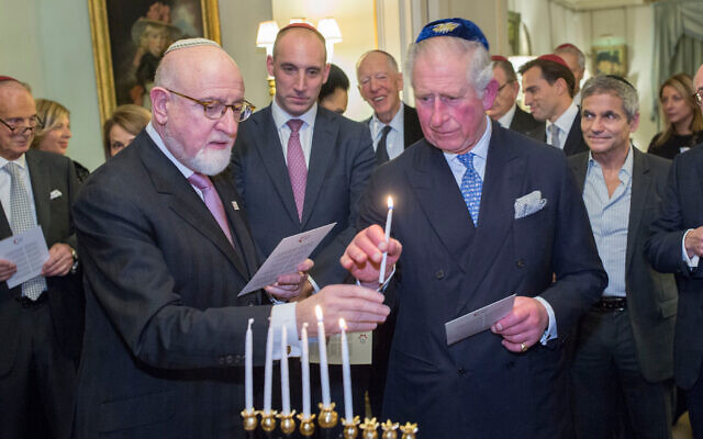 The Prince of Wales at an annual World Jewish Relief dinner in 2018 (Photo by Ian Jones)