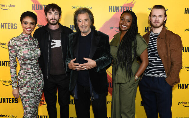 Tiffany Boone, Logan Lerman, Al Pacino, Jerrika Hinton and Greg Austin attend the Exclusive Screening of Amazon Prime Video's Hunters at the Curzon Soho ahead of its release on Prime Video on Friday 21st February.