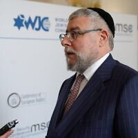 Chief Rabbi Pinchas Goldschmidt, president of the Conference of European Rabbis (CER), issued the warning at the Munich Security Conference, during a CER-sponsored debate about social media companies and radicalisation.