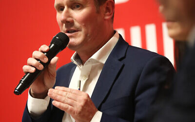 Sir Keir Starmer speaks during the community's Labour leadership hustings in February 2020  (Credit: Marc Morris)