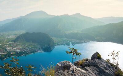 Beautiful Garda Lake on a sunny summer day.