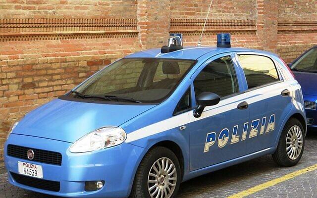 Italian police car (Wikipedia/Dickelbers/Creative Commons Attribution-Share Alike 4.0 International license.)