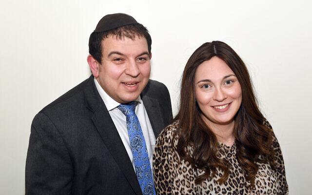 Rabbi Sam and Rebbetzen Emma Taylor, (credit: Sharna Kinsley)