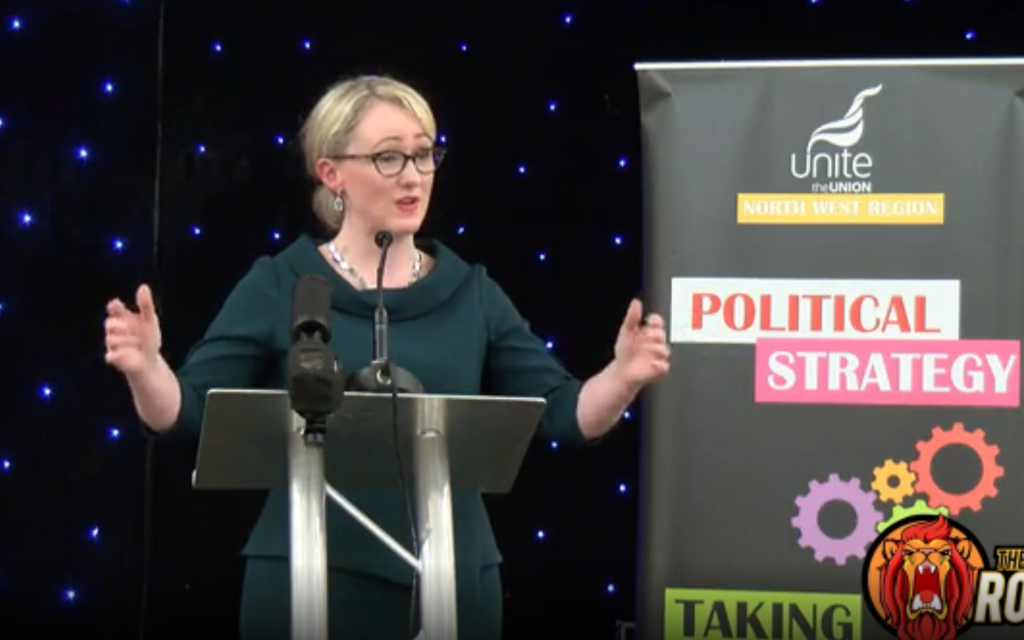 Rebecca Long Bailey rebuked over answer to activist's 'Israeli lobby' question
