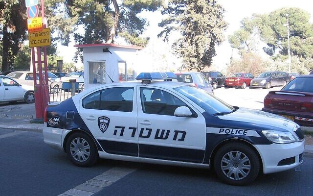 Israeli police car (Wikipedia/Author Gellerj/Attribution-ShareAlike 3.0 Unported (CC BY-SA 3.0)  https://creativecommons.org/licenses/by-sa/3.0/legalcode)