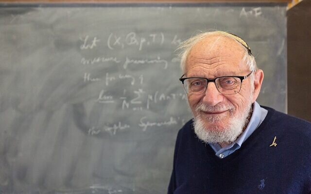 Professor Furstenberg on Hebrew University Campus, March, 2020 (Wikipedia/AuthorYosef Adest/Attribution-ShareAlike 4.0 International  https://creativecommons.org/licenses/by-sa/4.0/legalcode)
