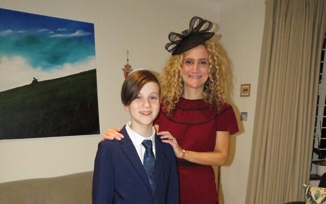 Jude and his mum the TV doctor Ellie Cannon