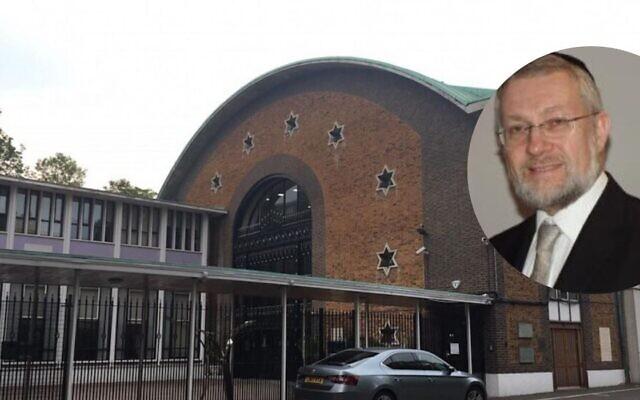 Dayan Binstock, right, and St John's Wood Synagogue