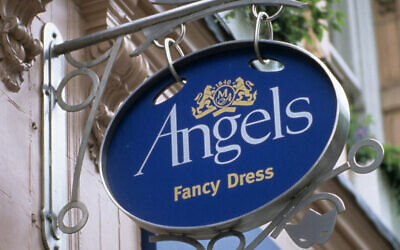 """The exterior of Angels Fancy Dress' 180-year-old West End store on Shaftesbury Avenue, London, which is leaving the historic theatre district after being """"priced out"""" by rising rent and rates."""