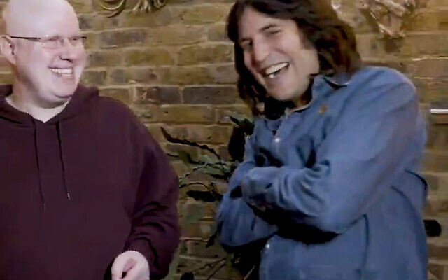 Screengrab taken with permission from the twitter feed of @BritishBakeOff showing Noel Fielding (right) alongside Matt Lucas, who has joined The Great British Bake Off (Photo credit: Channel 4/PA Wire)