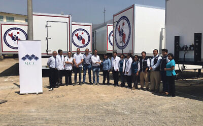 MCC's mobile hospitals in Peru. 'We designed and installed all 10  hospitals in nine months,' says Newman
