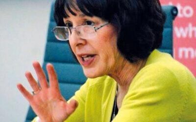 Edie Friedman of JCORE speaking in a Parliamentary committee room.