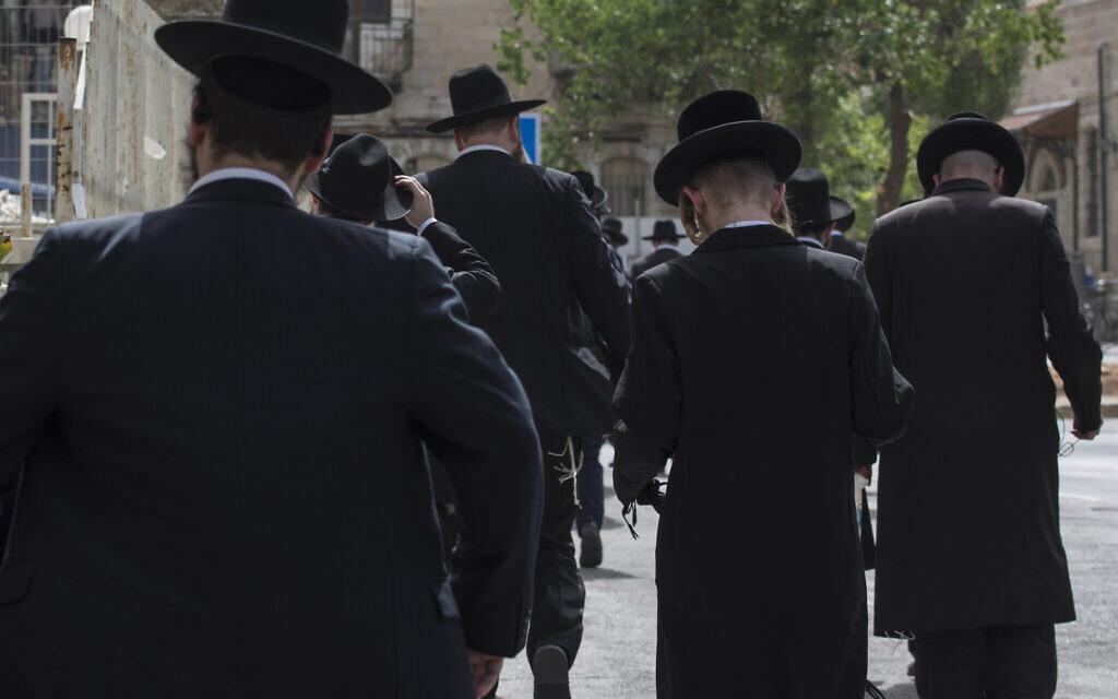 Charedi Jews in Jerusalem, Israel on July 23, 2019.  (Photo by Kish Kim / Sipa USA)