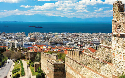 Thessaloniki, Greece, and its Byzantine wall ruins