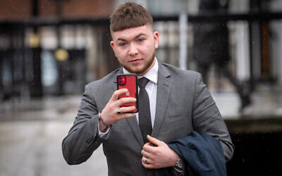 Adam Cassidy 19, at St Albans Magistrates court in Hertfordshire. (SWNS)