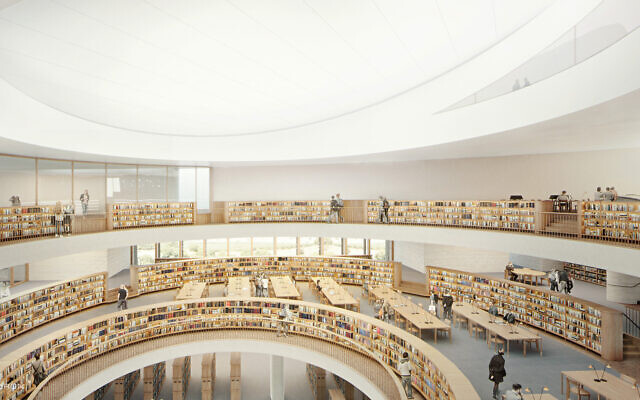 The reading room at Israel's National Library