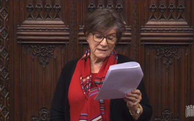 Baroness Jenny Tonge (Screenshot from Parliament TV)