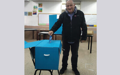 Professor David Newman voting in March