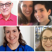 Four of our contributors: Derek, Oliver & Joanna Vinacour, Shelly Jacobs and Jo Pearlman