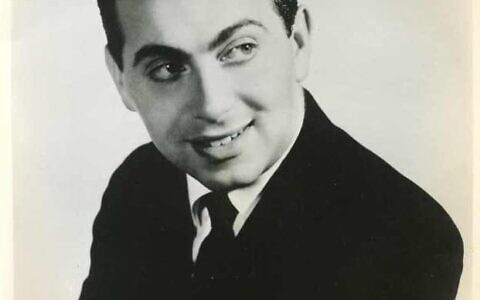 Jackie Mason in his youth.