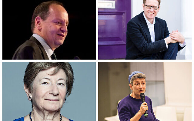 Philippe Sands, Jonathan Freedland, Baroness Deech and Rabbi Laura Janner-Klausner