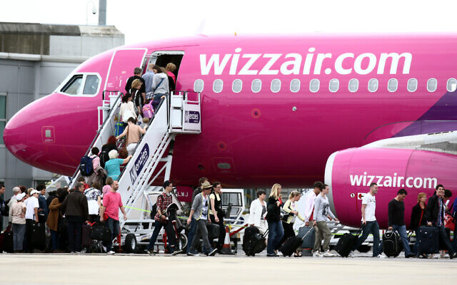 Wizz Air plane at Lution Airport.   (Photo credit: Steve Parsons/PA Wire)