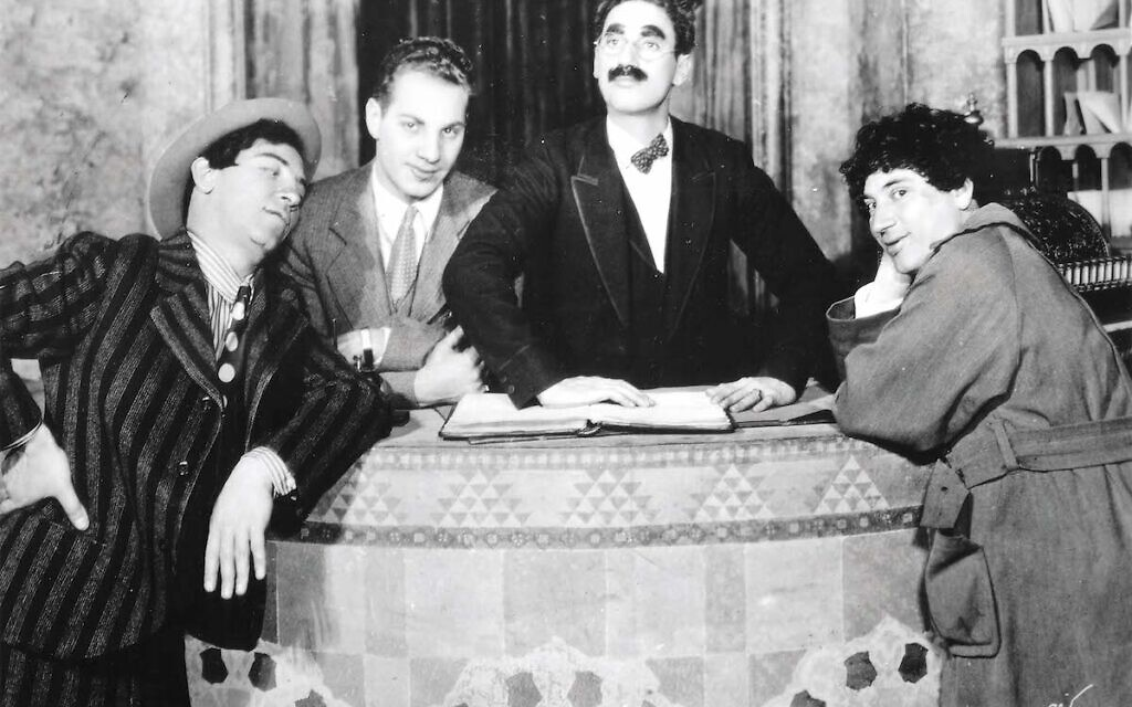 Marx brothers around the seder plate