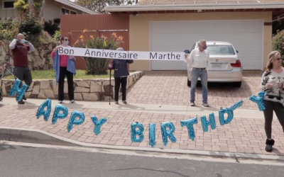 Well wishers lined the streets to wish Marte happy 100th!