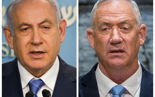Bibi Netanyahu and Benny Gantz