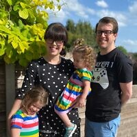 Claire Balkind, 36, with her partner Russell, 39, and children Maisie, 5, and Georgie, 2