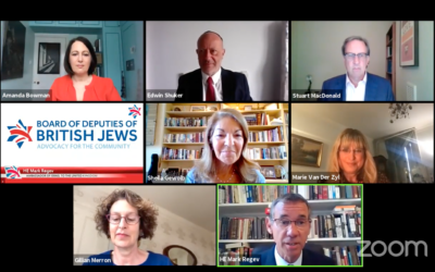 Mark Regev speaking during the Board of Deputies virtual plenary