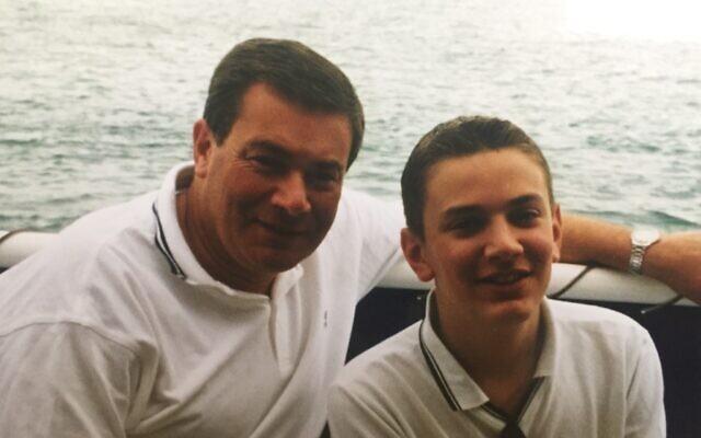 Jonny Benjamin with his father Michael