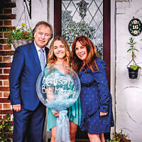 The Batmitzvah Doorstep Photography of Madisons  at Their home, in Barnet On May2020 By Adam Soller Photography