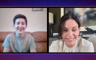 Naftali Arden getting to virtually meet one of his heroes, Courtney Cox, who played Monica Geller on Friends!