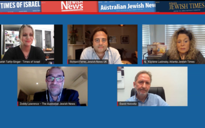 Four Jewish newspaper editors, including Jewish News' Richard Ferrer (top, centre) discuss challenges faced across the Jewish world and within their communities - from antisemitism and coronavirus to the role of the media in a rapidly changing landscape.