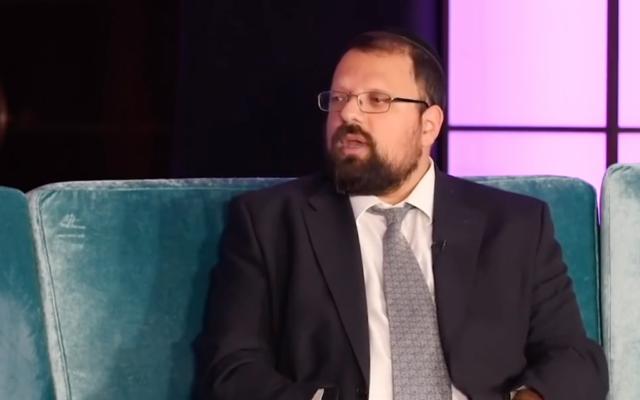 Rabbi Eliezer Zobin (screenshot from JTV)