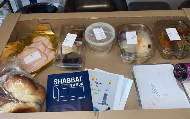 Shabbat in a box (Credit: Jasmine Catering)