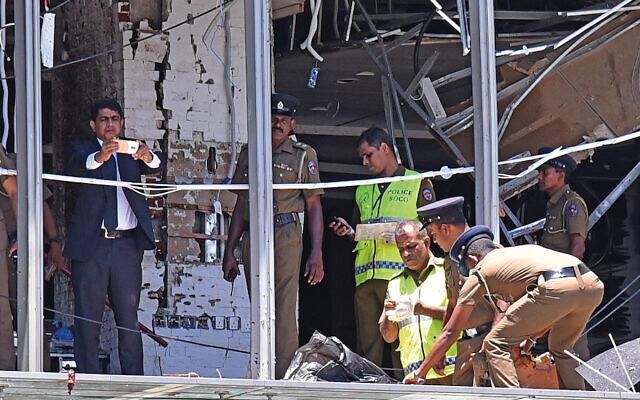 Aftermath of the bombings in Sri Lanka. Photo by Perera Sameera/UPI
