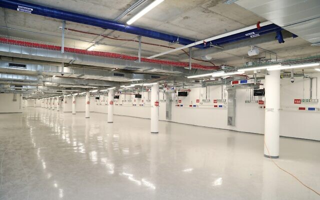 Underground at the Sheba Medical Centre's new intensive care unit