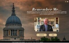 Screengrab from the website of the Remember Me initiative, launched by St Paul's Cathedral in London