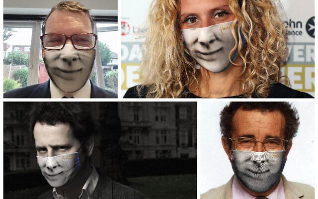Rabbi Stanley Coten, Dr Ellie,  Dr Adam Kay and Lord Winston with masks on, honouring Florence Nightingale