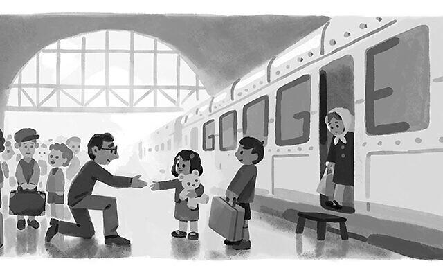 Sir Nicholas Winton's Google Doodle