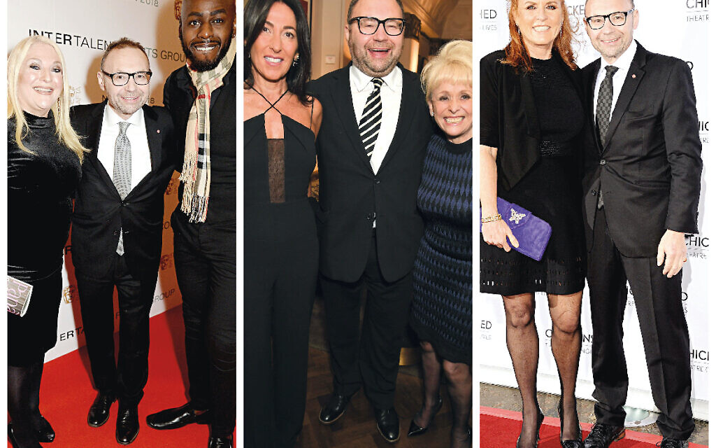 Jonathan with Vanessa Feltz, Ben Ofoedu, Katrina Shalit, Barbara Windsor and Sarah Ferguson (Credit: Richard Young)