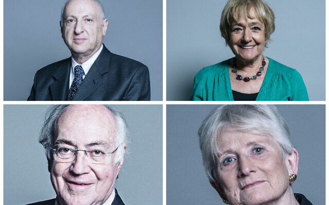 Lord Carlile, Dame Margaret Hodge, Lord Howard and Baroness Neville-Jones were key British signatories to the letter