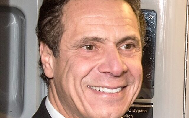 Governor Cuomo (Wikipedia/ Sourcehttps://www.flickr.com/photos/mtaphotos/31192356394/ AuthorMetropolitan Transportation Authority / Patrick Cashin / Attribution 2.0 Generic (CC BY 2.0)  https://creativecommons.org/licenses/by/2.0/legalcode)