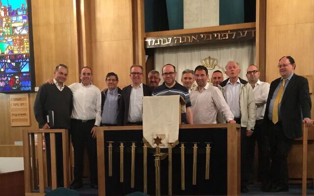Members of Mill Hill United Synagogue's choir pictured in 2017