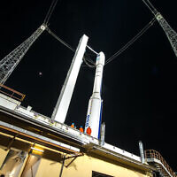 Israel's Vega rocket with a microsatellite lab, launched from the Spaceport in French Guiana.