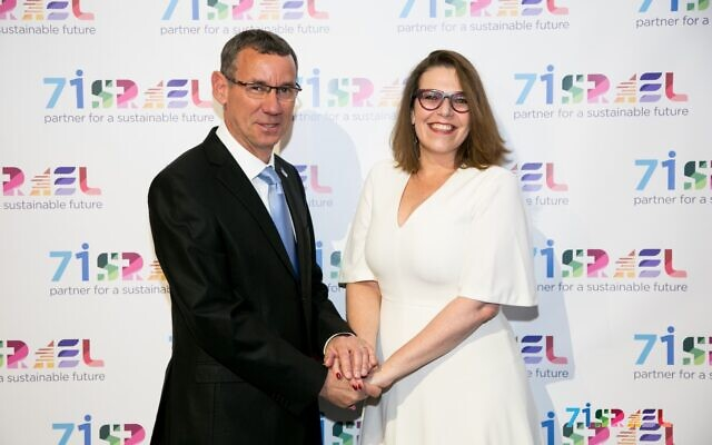 Ambassador Mark Regev, with deputy Sharon Bar-li
