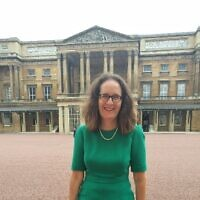 Elizabeth Harris-Sawczenko at Buckingham Palace for an interfaith reception in 2020